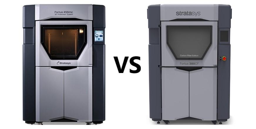 Stratasys 3D Printer Fortus 380mc vs Fortus 450mc