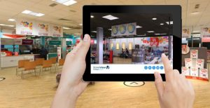 augmented reality service provider for retailer